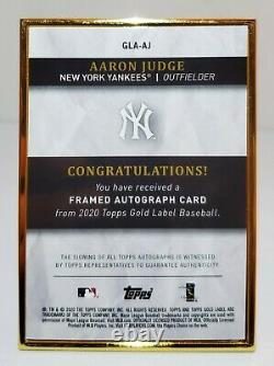 Topps 2020 Gold Label Aaron Judge #gla-aj Gold Frame Auto #6/10 Ny Yankees