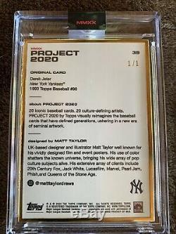 Topps 2020 Projet Derek Jeter 1993 Par Matt Taylor Gold Cadre Carte 1/1
