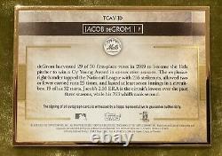 Topps 2020 Transcendant Collection Sp Jacob Degrom Gold Frame Auto 6/25 Rare