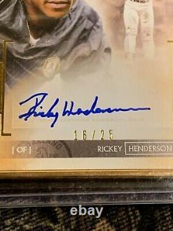 Topps 2020 Transcendant Rickey Henderson Auto Gold Frame Sp #/25 Athletics Hof