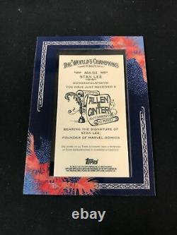 Topps Allen 2011 & Ginter Encadré Blue Ink Auto Stan Lee Marvel Fame Sc2a