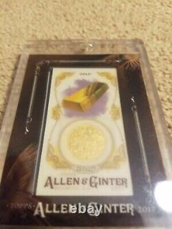 Topps Allen & Ginter Framed Mini Gems & Ancient Fossils Relic Gold 2017 Topps Allen & Ginter Framed Mini Gems & Ancient Fossils Relic Gold #gaf-g