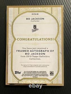 Topps Definitive Collection 2018 Bo Jackson Auto Gold Frame #14/25 Royals