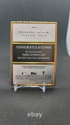 Topps Gold Label 2019 Framed Rookie Card Auto Fernando Tatis Jr Rc Autograph