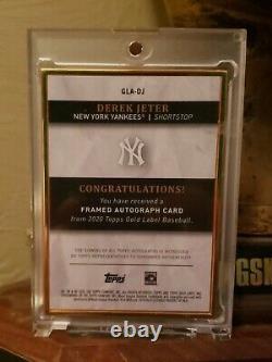 Topps Gold Label 2020 Derek Jeter Ssp 02/10 Gold Frame On Card Auto Ebay 1/1