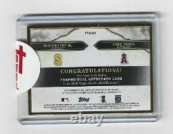 Topps Gold Label 2020 Mike Trout/ken Griffey Jr. Framed Black Dual Auto 1/5