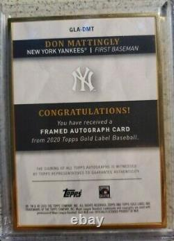 Topps Gold Label Gold Label Gold Framed Red Signature Don Mattingly #ed 2/5