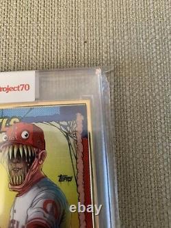 Topps Project70 Card 79 1990 Mike Trout Par Alex Pardee Gold Frame 1/1