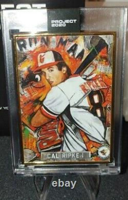 Topps Project 2020 Cal Ripken #205 Par Andrew Thiele One Of One Gold Frame 1/1