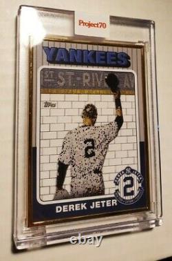 Topps Project 70 Derek Jeter 1975 Gold Frame #1/1 (card #29) Par Jeff Staple Withbx