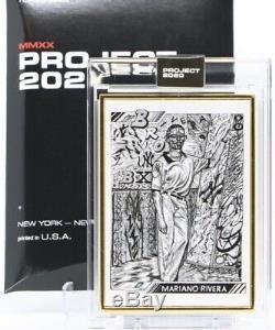 Topps Projet 2020 Carte # 91 Mariano Rivera Jk5 Gold Frame 1 De 1 1/1