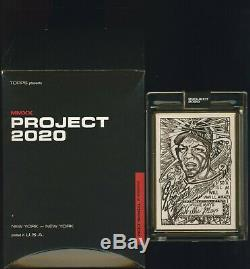 Topps Projet 2020 Willie Mays Par Jk5 Gold Frame 1/1 Carte De 48