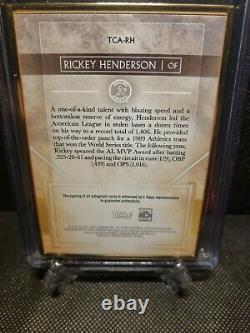 Transcendent 2020 Pourpre Rickey Henderson Cadre D'or Vertical Auto 02/10