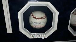 Uda Mickey Mantle Ted Williams Signé Upper Deck Authentifié Baseball Encadré