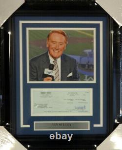 Vin Scully Autographié Signé Framed 8x10 Photo Avec Dodgers Vérifiez 98234