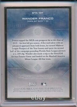 Wander Franco Auto Prospect 10/25 2020 Bowman Topps Transcendent Gold Frame Rayons